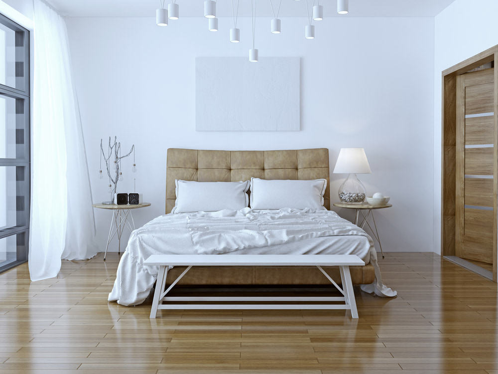 Laminate flooring in a St. Petersburg home, courtesy of Floor Coverings International Seminole